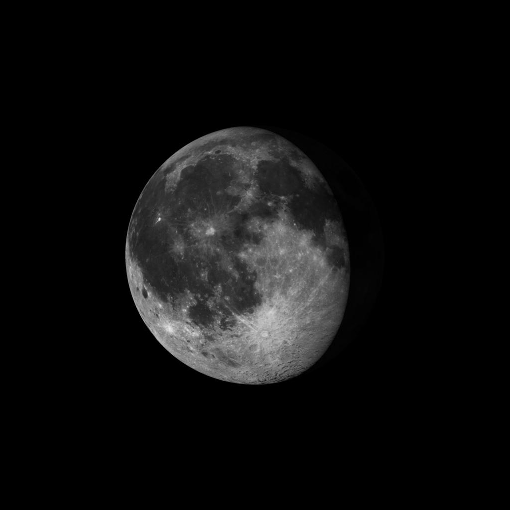 Luna gibosa menguante